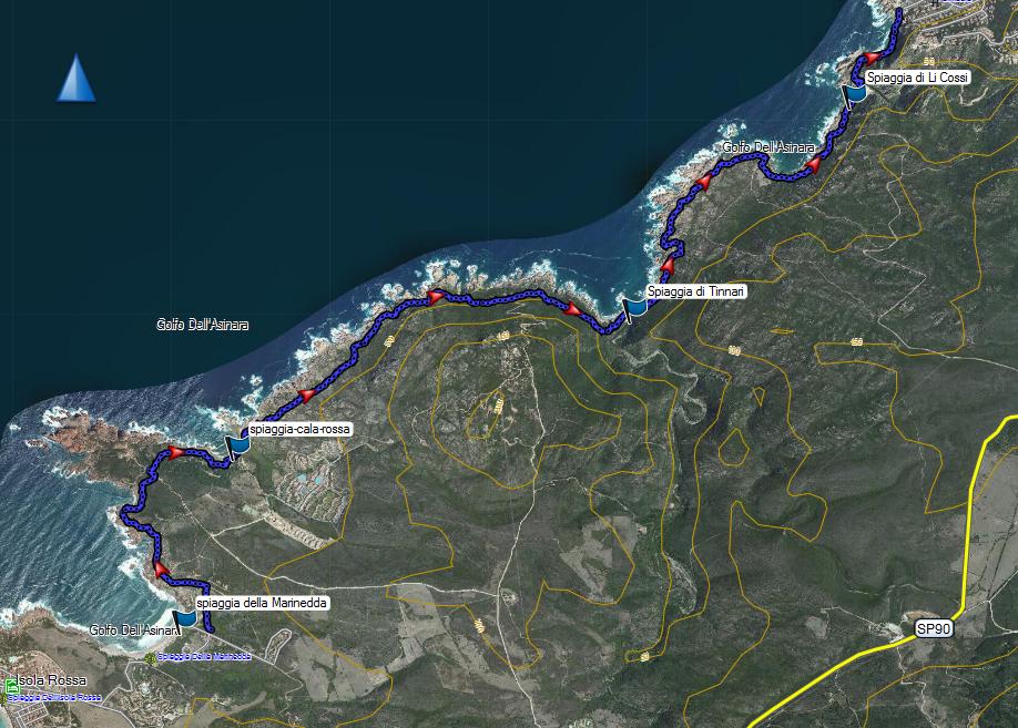 Costa Paradiso Sardegna Cartina Geografica.Isola Rossa Costa Paradiso Club Alpino Italiano
